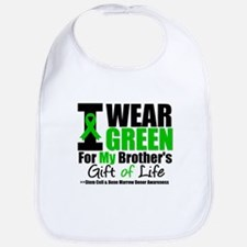I Wear Green For My Brother Bib