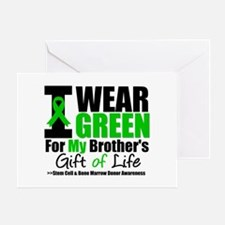 I Wear Green For My Brother Greeting Card