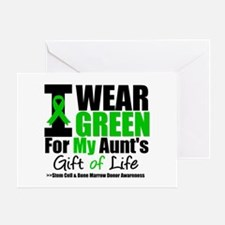 I Wear Green For My Aunt Greeting Card
