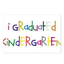 I graduated kindergarten Postcards (Package of 8)