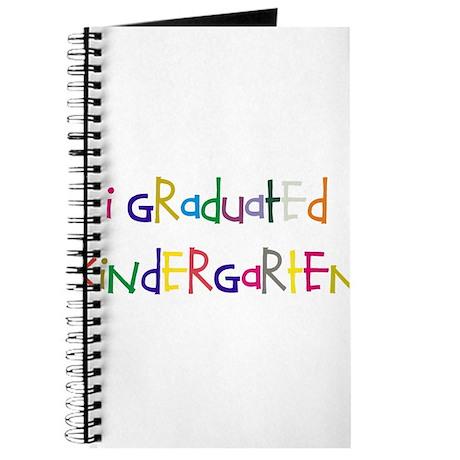 I graduated kindergarten Journal