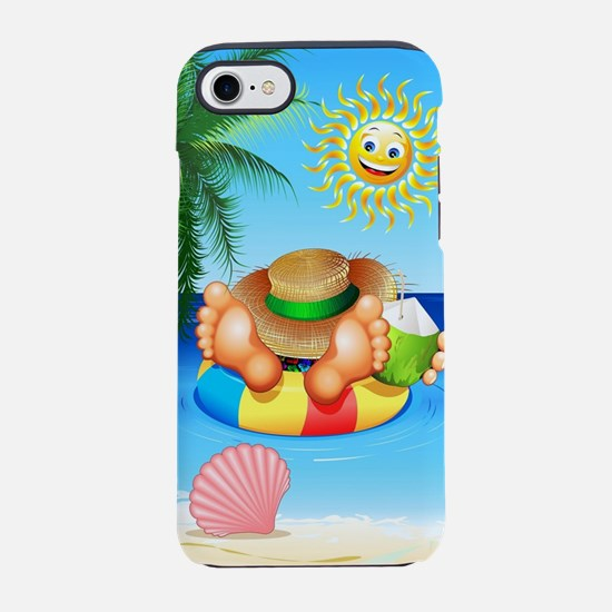 Summer Relax on the Sea iPhone 7 Tough Case