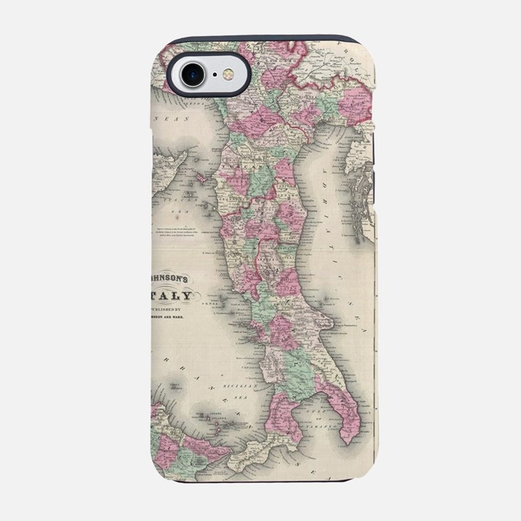 Cute Vintage map iPhone 7 Tough Case
