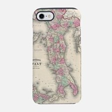 Vintage Map of Italy (1864) iPhone 7 Tough Case