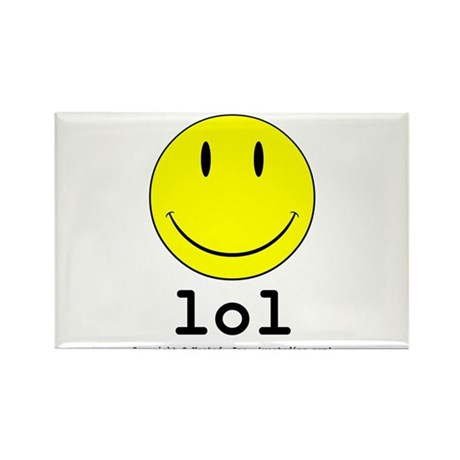 Smiley Rectangle Magnet (100 pack)