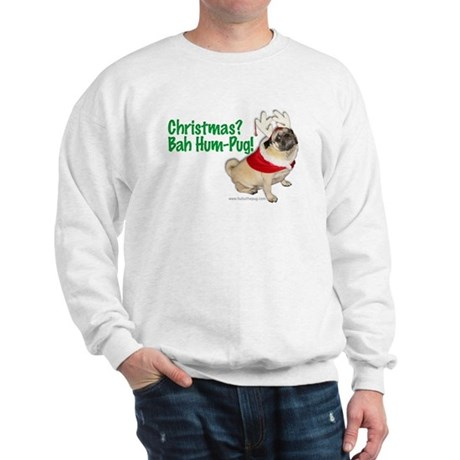 Pug Christmas Sweatshirt - Bah Hum-Pug!