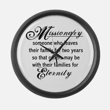 Missionary Eternity Large Wall Clock