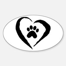 Heart Oval Bumper Stickers