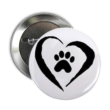 """Heart 2.25"""" Button (100 pack)"""