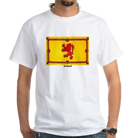 Scotland Lion Rampant White T-Shirt