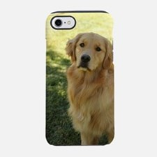 golden retriever Nala in shade iPhone 7 Tough Case