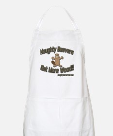 Naughty Beavers Get More Wood BBQ Apron