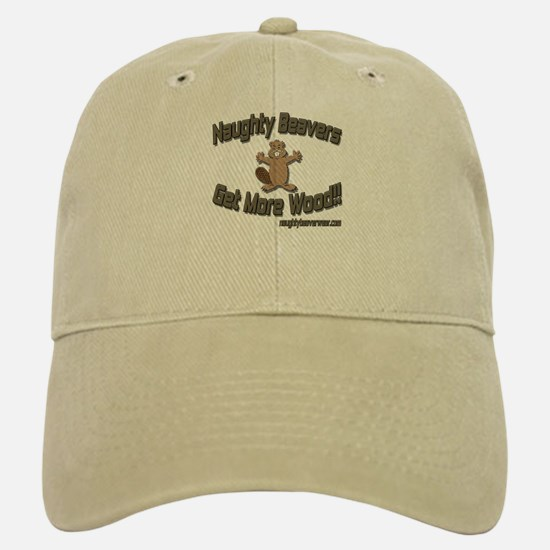 Naughty Beavers Get More Wood Baseball Baseball Cap