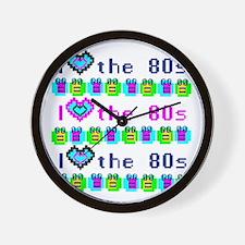 I Heart the 80s Wall Clock