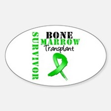 BMT Survivor Ribbon Oval Decal