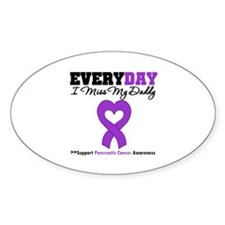 PancreaticCancer Daddy Oval Decal