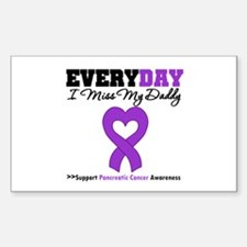 PancreaticCancer Daddy Rectangle Decal