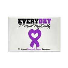 PancreaticCancer Daddy Rectangle Magnet (10 pack)