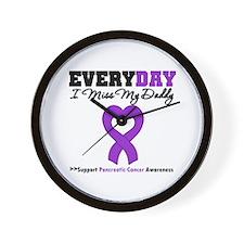PancreaticCancer Daddy Wall Clock