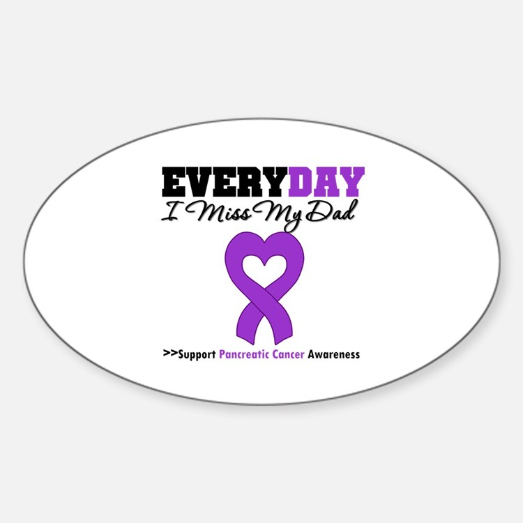 PancreaticCancer Dad Oval Decal