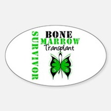 BMT Survivor Butterfly Oval Decal