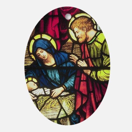 Nativity by Powells Keepsake (Oval)