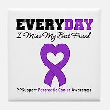 PancreaticCancer BestFriend Tile Coaster