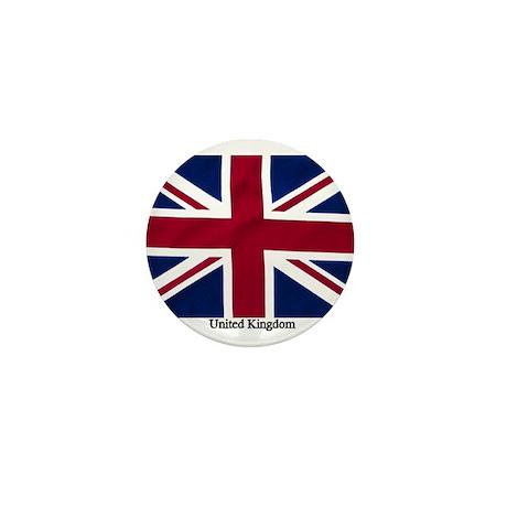 Union Jack Flag Mini Button (100 pack)