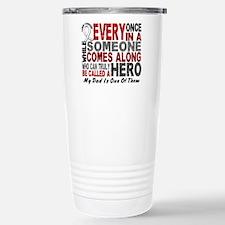 HERO Comes Along 1 Dad LUNG CANCER Travel Mug