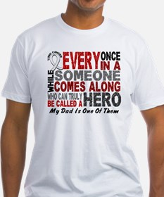 HERO Comes Along 1 Dad LUNG CANCER Shirt