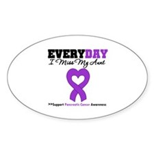 PancreaticCancer Aunt Oval Decal