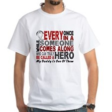 HERO Comes Along 1 Daddy LUNG CANCER Shirt