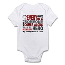 HERO Comes Along 1 Daddy LUNG CANCER Infant Bodysu