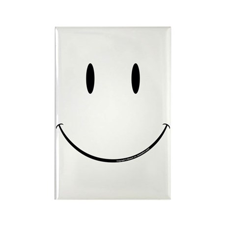 Smiley Rectangle Magnet (10 pack)