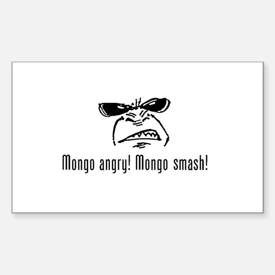 Mongo Angry! Mongo Smash! Rectangle Decal