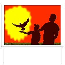 Pigeon In Flight Yard Sign