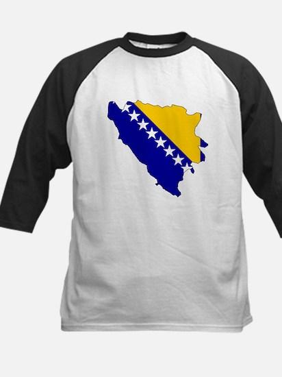 Bosnia and Herzegovina Flag Kids Baseball Jersey
