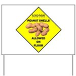Cautions Peanuts On Floor Yard Sign