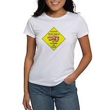 Cautions Peanuts On Floor Tee