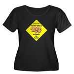 Cautions Peanuts On Floor Women's Plus Size Scoop