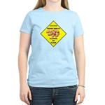 Cautions Peanuts On Floor Women's Light T-Shirt