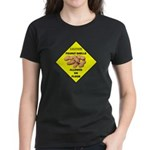 Cautions Peanuts On Floor Women's Dark T-Shirt