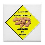 Cautions Peanuts On Floor Tile Coaster