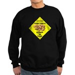 Cautions Peanuts On Floor Sweatshirt (dark)