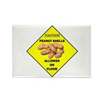 Cautions Peanuts On Floor Rectangle Magnet (100 pa