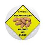 Cautions Peanuts On Floor Ornament (Round)