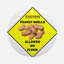 Cautions Peanuts On Floor Ornament (Round)