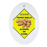 Cautions Peanuts On Floor Oval Ornament