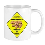 Cautions Peanuts On Floor Mug