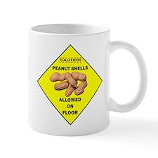 Cautions Peanuts On Floor Mug